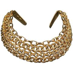 Kenneth Jay Lane Gold Medium Link Necklace Polished gold OjXL7e43H