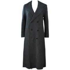 COMMES DES GARCON Grey Boiled Wool Coat Size S