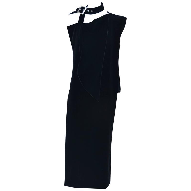 Yohji Yamamoto Velvet  Dress/ Top  Runway 2004 New  For Sale