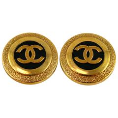 Chanel Vintage Massive CC Logo Earrings