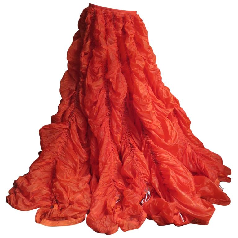 Rare Iconic Museum Exhibited 1970's Norma Kamaili Parachute Skirt For Sale