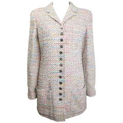 Chanel Pink Multi-Colour Tweed Jacket