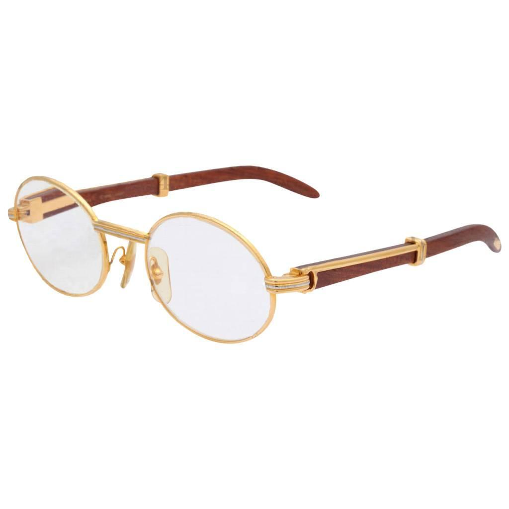 Cartier Eyeglasses Frames Mens : Vintage Cartier Giverny Palisander Sunglasses For Sale at ...