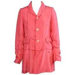 Comme des Garcons Pink Silk Jacket