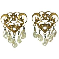 Louis Rousselet French Neo-Classical Design Earclips