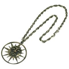 Rebajes Sun Moon Pendant Necklace