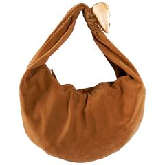 YSL Yves Saint Laurent Haute Couture Tan Matte Leather Hobo Bag with Shell