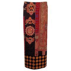 Issey Miyake Hokokai Print Straight Skirt