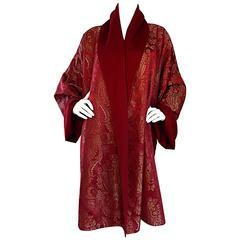 Incredibly Rare Vintage Romeo Gigli Reversible Wine Burgundy Opera Coat Jacket