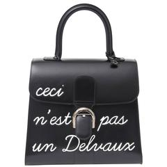 """Delvaux L'Humour Brillant MM """"Ceci N'est Pas Un Delvaux"""" Handbag"""