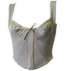 Important Atelier Versace Ecru Silk Bustier