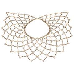 Unsigned Schreiner of New York jewelled lattice collar
