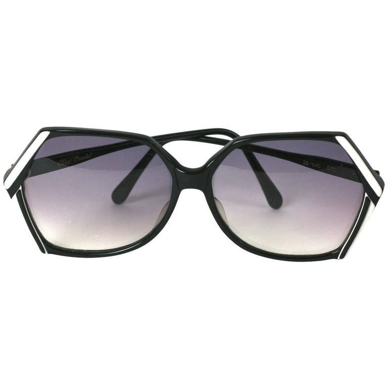 Oleg Cassini Graphic Black White Sunglasses