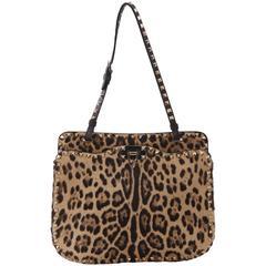 "Valentino ""Rockstud"" Leopard Calf Hair Shoulder Bag"