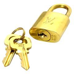 Louis Vuitton Gold Padlock & Keys