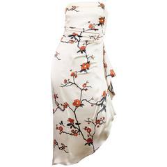 Oscar De La Renta Asian Strapless Dress