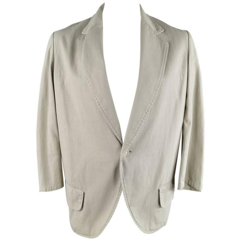 Yohji Yamamoto Y's Men's Khaki Cotton Sport Coat