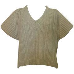Amazing Sonia Rykiel Wool/Yak Ribbed Sweater Never Worn - In Box (S)