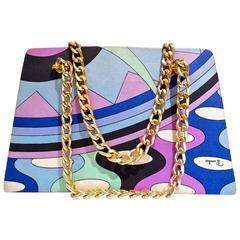1960s Emilio Pucci Mod Print Chain Strap Handbag