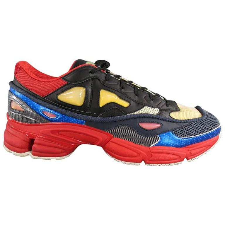 2552a4a43c3 RAF SIMONS X ADIDAS Size 12 Multi-Color Nylon OZWEEGO 2 Sneakers at 1stdibs