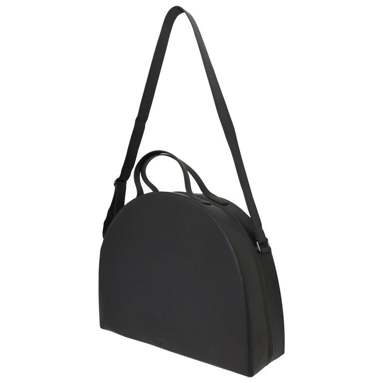 c8e103e3a3f8 Rare Vintage HELMUT LANG Oversized Black Leather Bag For Sale at 1stdibs