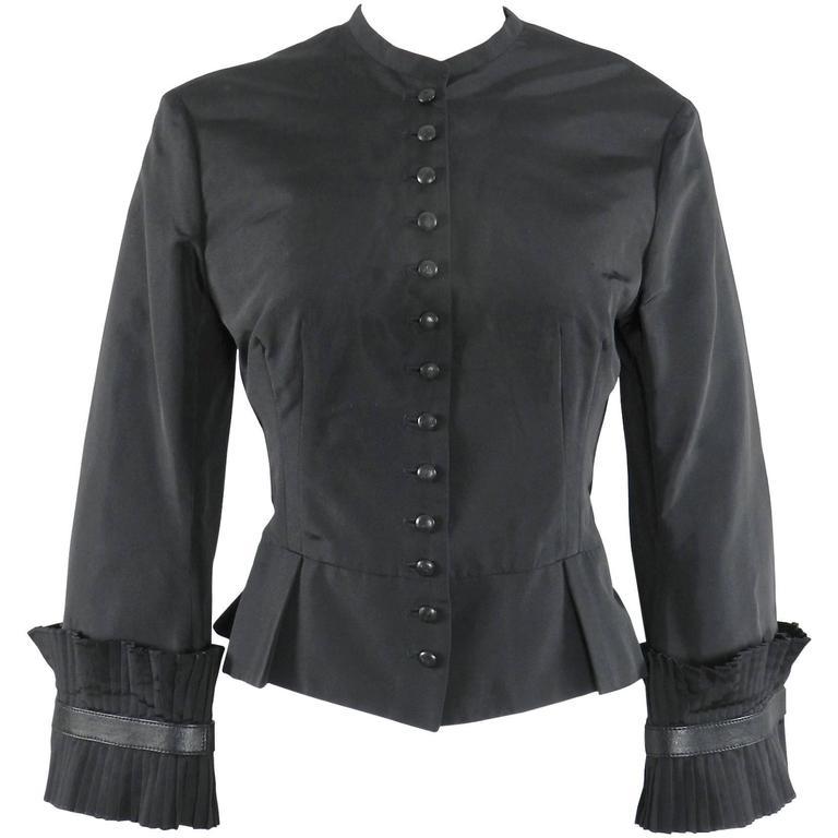 Alexander McQueen Fall 2002 Black Silk Victorian Style Jacket