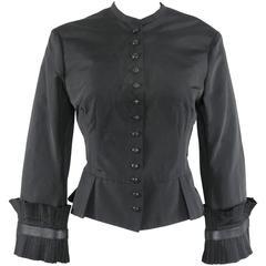 Alexander McQueen Black Silk Victorian Style Jacket, Fall 2002