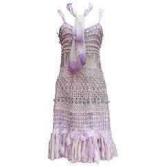 Summer 1996 Christian Lacroix Haute Couture Parma Crochet Dress