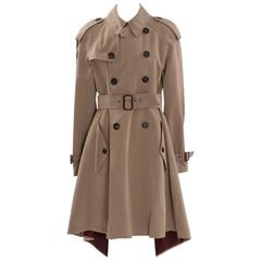 Unworn Jean Paul Gaultier Runway Gabardine Trench Coat, Fall-Winter 2007-2008