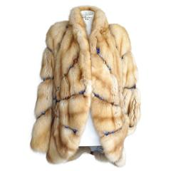 Russian Sable Fur Coat Jeweled Unique Striking 6 / 8