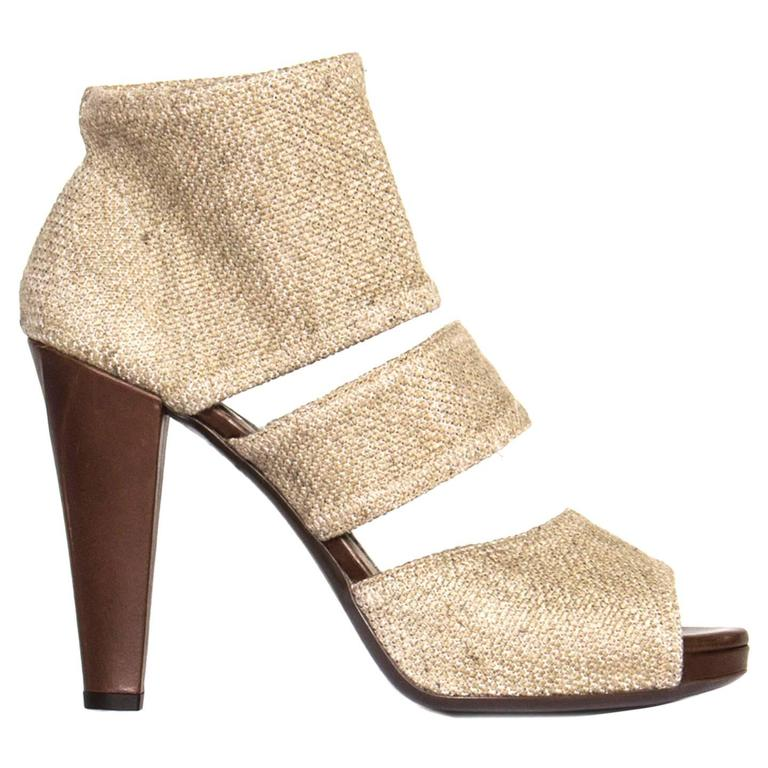 Yves Saint Laurent Beige Heeled Sandals 1
