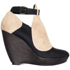 Balenciaga Black & Beige Wedges