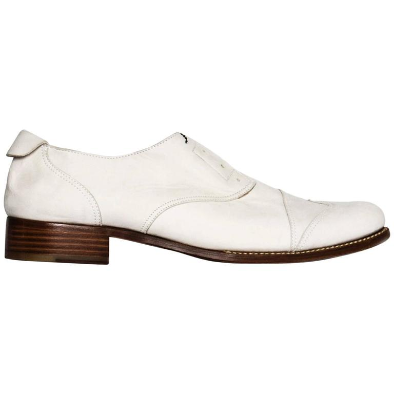 Jil Sander White leather Brogue Shoes