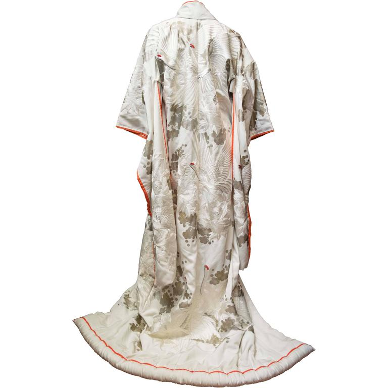 White Ceremonial Wedding Kimono at 1stdibs