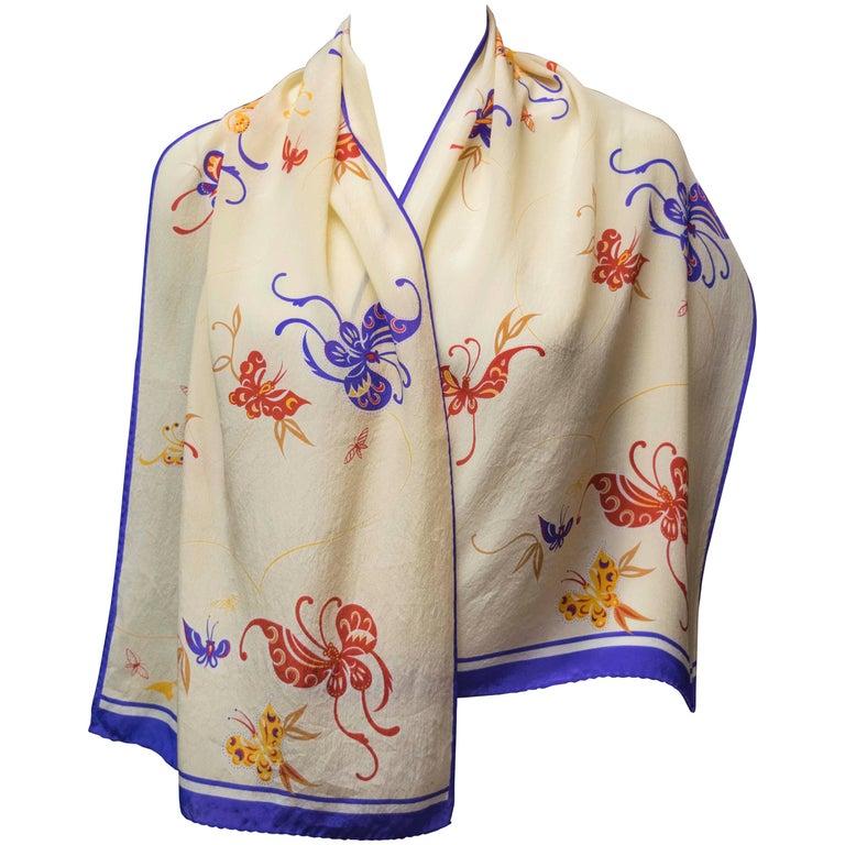 Hattie Carnegie Silk Scarf For Sale