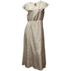 Late 1920s Raw Cream Silk Dress