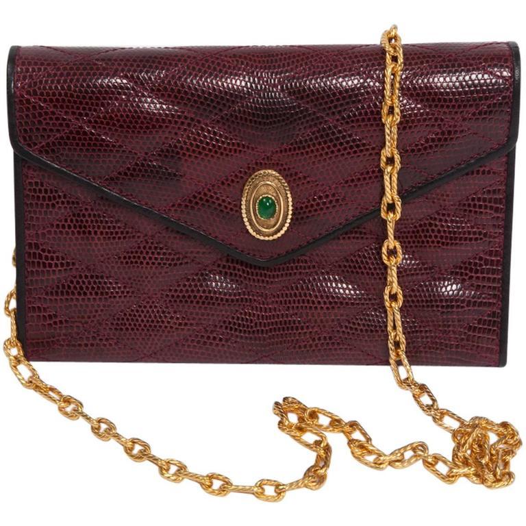 Chanel Embellished Lizard Bag  For Sale
