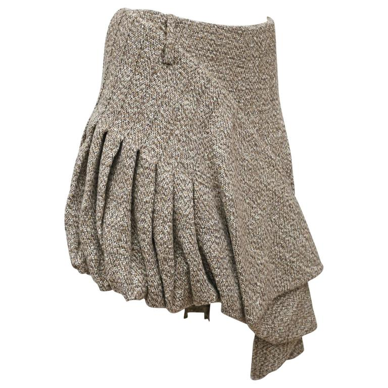 Alexander McQueen tweed pleated bubble skirt, c. 2006 1