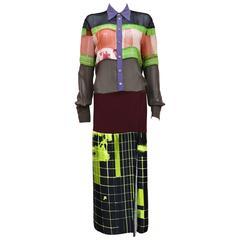 Jean Paul Gaultier oversized shirt dress, c. 1996