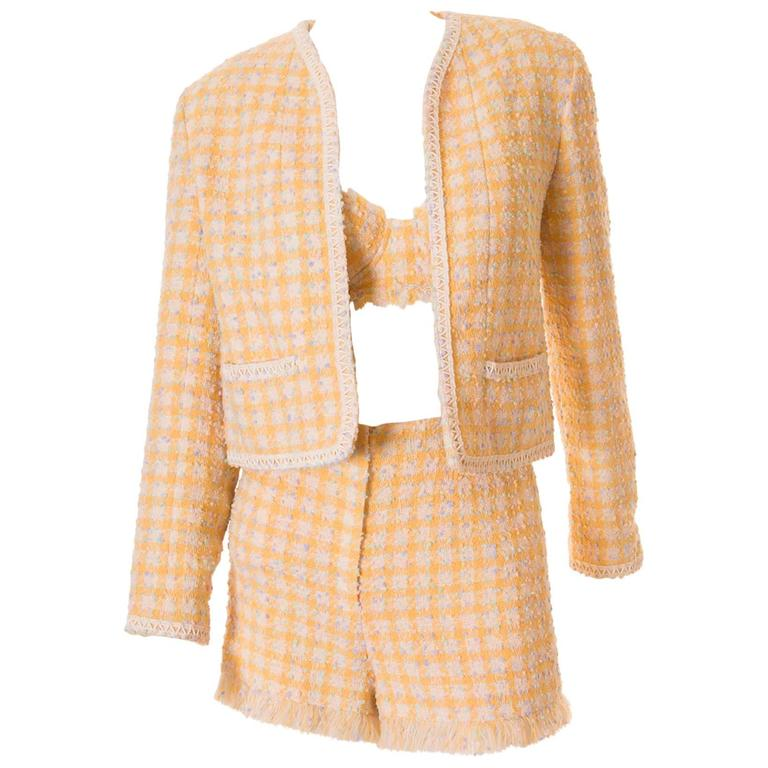 Important Chanel S/S 1994 Bra, Jacket and Short Set 1