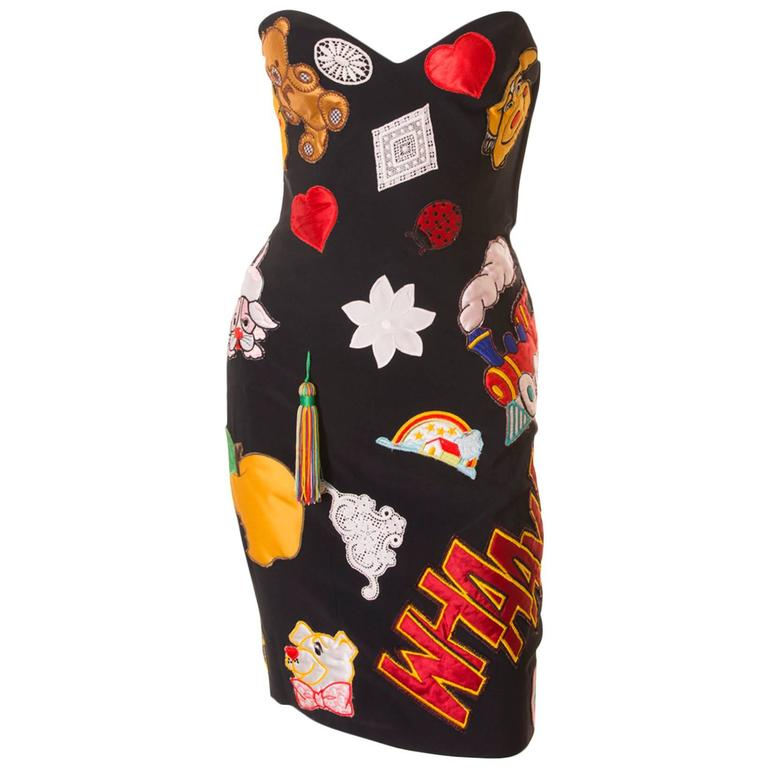 Documented Franco Moschino S/S 1988 Patch Dress 1