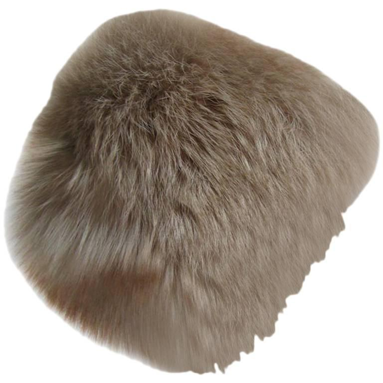 1960s Irene of New York Fox Fur Hat
