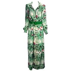 "1970s Estevez ""Spring has Sprung"" Maxi Dress"
