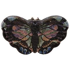 Judith Leiber Swarovski Butterfly Clutch - multicolor