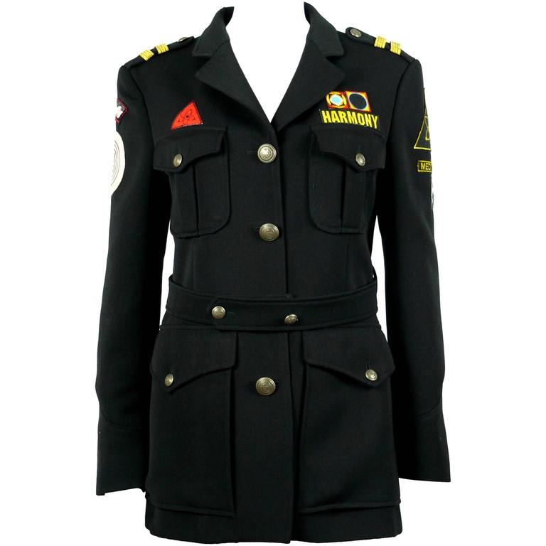 Moschino Vintage Military Style Harmony Wool Jacket at 1stdibs