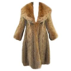 1980's James Galanos Lynx Swing Fur Coat