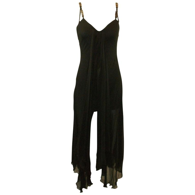Gianni Versace Runway Black Silk Dress on Madonna as Jean Harlow 40, S/S 1995