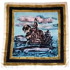 Lanvin 1950s Castillo Silk Scarf
