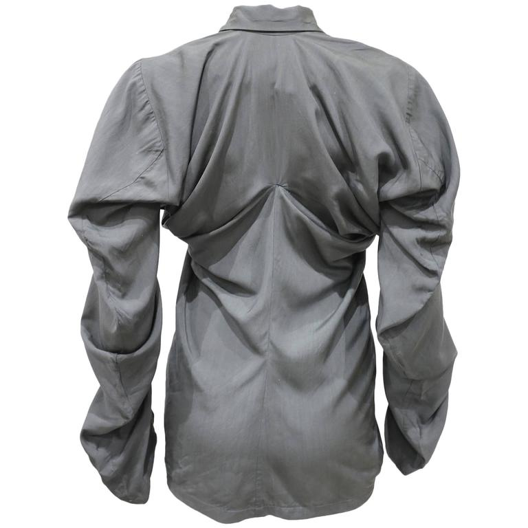 John Galliano twisted rayon blouse, c. 1987