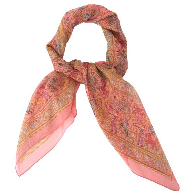 Hermès Mousseline Silk Scarf 1